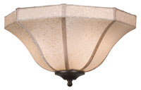 Fanimation Glass Fan Light Kit in Beige Brocade S480