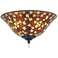 Fanimation Light Kit Glass Fan Accessory in Amber Brown Mosaic G426