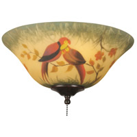 Fanimation Light Kit Glass Fan Accessory in Hand-Painted Parrot G439