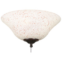 Fanimation Light Kit Glass Fan Accessory in Rust/Cream Speckled G459