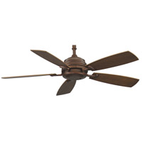 Fanimation HF6050MH Hubbardton 9 inch Mahogany with Coffee Blades Ceiling Fan photo thumbnail