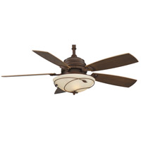 Fanimation Hubbardton Indoor Ceiling Fan in Mahogany with Coffee Blades HF6200MH
