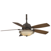 Fanimation Hubbardton Indoor Ceiling Fan in Bronze with Coffee Blades HF6600BZ