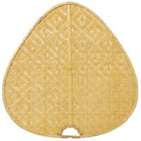 Bamboo Clear Woven Bamboo 22 inch Set of 5 Fan Blades