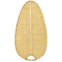 Signature Clear 22 inch Set of 5 Fan Blade in Clear Woven Bamboo