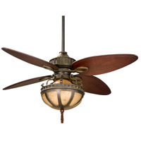 Lauren Brooks 17 inch Venetian Bronze with Cairo Purple Blades Ceiling Fan