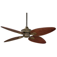 Fanimation LB250VZ Lrn-Brook 9 inch Venetian Bronze with Cairo Purple Blades Ceiling Fan