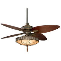 Lauren Brooks 56 inch Venetian Bronze with Cairo Purple Blades Ceiling Fan