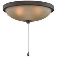 Signature 3 Light Halogen Oil-Rubbed Bronze Fan Light Kit in Amber Frosted