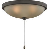 Fanimation LK124AOB Signature 3 Light Halogen Oil-Rubbed Bronze Fan Light Kit in Amber Frosted