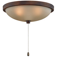 Fanimation LK124ATS Samuel 3 Light Halogen Tortoise Shell and Amber Frosted Glass Fan Light Kit
