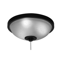 Signature 3 Light Halogen Oil-Rubbed Bronze Fan Light Kit in White Frosted