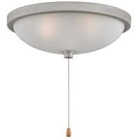 Signature 3 Light Halogen Satin Nickel Fan Light Kit in White Frosted