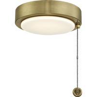 Fanimation LK179AB Fitters 1 Light Antique Brass Fan Light Kit