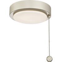 Fanimation LK179BNW Fitters 1 Light Brushed Nickel Fan Light Kit in Antique Brass