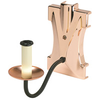 Evanesce Polished Copper Fan Light Kit