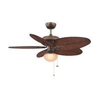 Signature 1 Light Halogen Aged Bronze Fan Light Kit