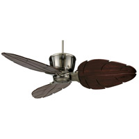 Fanimation Treventi Indoor Ceiling Fan in Pewter with Cairo Purple Carved Wood Blades LX25PW