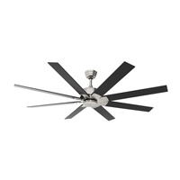 Levon DC 72 inch Brushed Nickel Ceiling Fan, Motor Only