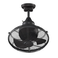 Extraordinaire 18 inch Black Ceiling Fan in 110 Volts
