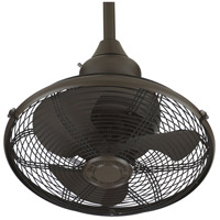 Extraordinaire 18 inch Oil-Rubbed Bronze with Oil -Rubbed Bronze Blades Ceiling Fan in 110 Volts