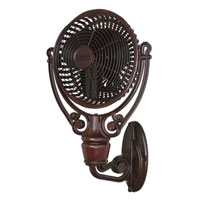 Fanimation FPH61RS Old Havana 11 inch Rust Wall Fan
