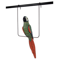 Palisade Green and Red Decorative Parrot and Perch