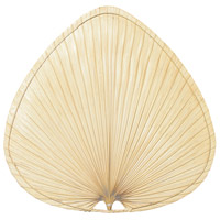 Palmetto Natural Palm 18 inch Set of 3 Fan Blade in Natural Palm/Antique Brass