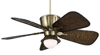 Fanimation Signature Fan Light Kit in Antique Finish Bamboo/White Frosted Glass LK112A alternative photo thumbnail