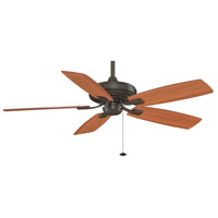 Fanimation Edgewood Indoor Ceiling Fan in Oil-Rubbed Bronze with Cherry/Walnut Blades TF610OB