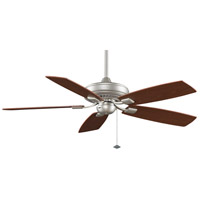 Fanimation TF610SN Edgewood 52 inch Satin Nickel with Walnut/Light Walnut Blades Indoor/Outdoor Ceiling Fan