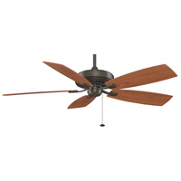 Fanimation Edgewood Indoor Ceiling Fan in Oil-Rubbed Bronze with Cherry/Walnut Blades TF710OB