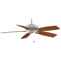 Fanimation TF710SN Edgewood 60 inch Satin Nickel with Walnut/Light Walnut Blades Indoor/Outdoor Ceiling Fan