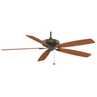 Fanimation Edgewood Indoor Ceiling Fan in Oil-Rubbed Bronze with Cherry/Walnut Blades TF721OB