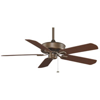 Fanimation Edgewood Outdoor Ceiling Fan in Aged Bronze with Dark Cherry Blades 220v TF910AZ-220