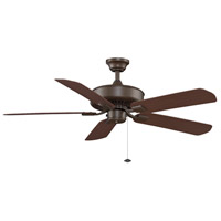 Fanimation Edgewood Outdoor Ceiling Fan in Oil-Rubbed Bronze with Dark Cherry Blades TF910OB