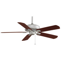 Fanimation Edgewood Outdoor Ceiling Fan in Satin Nickel with Mahogany Blades TF910SN