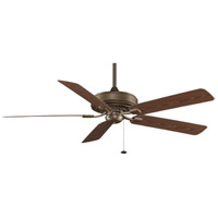 Fanimation Edgewood Outdoor Ceiling Fan in Aged Bronze with Dark Cherry Blades TF971AZ
