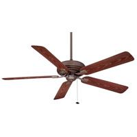 Edgewood 60 inch Oil-Rubbed Bronze with Dark Cherry Blades Ceiling Fan in 110 Volts