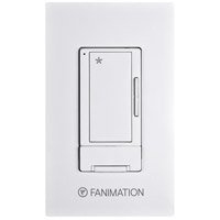 Fanimation WR500WH Controls White Wall Control with Receiver