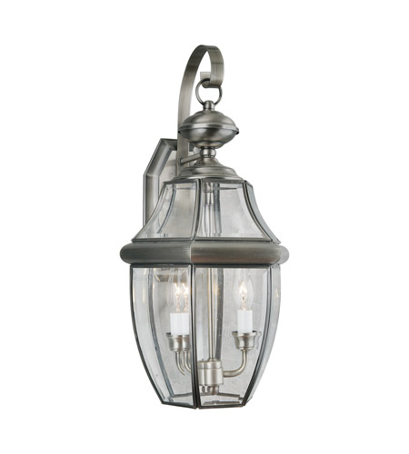Forte Lighting 1301 02 34 Signature 2 Light 21 Inch Antique Pewter Outdoor Wall
