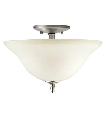 Forte Lighting Brushed Nickel Semi-Flush Mounts