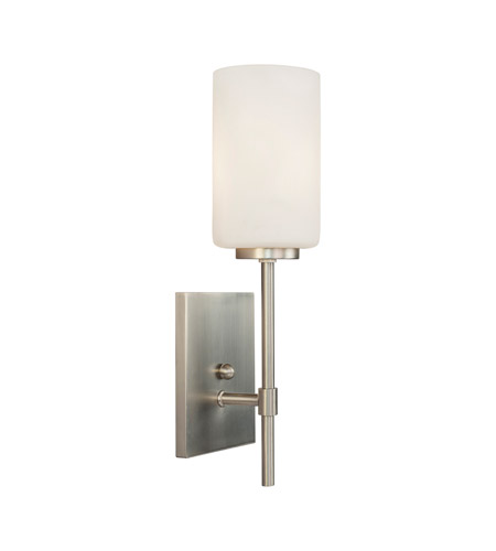 Forte Lighting 2612 01 55 Signature 1 Light 5 Inch Brushed Nickel Wall Sconce