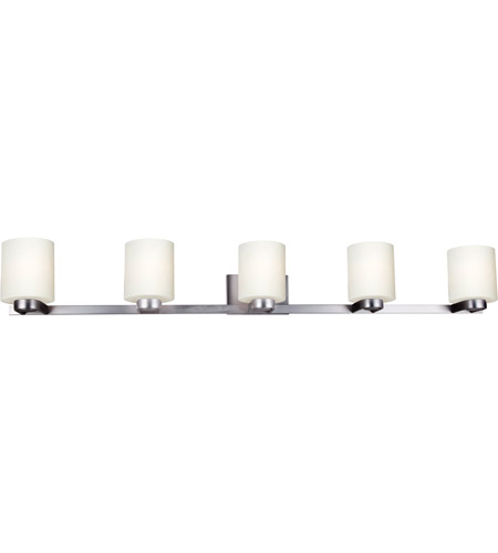 Forte Lighting 5146 05 55 Mona 5 Light, 5 Light Bathroom Fixture