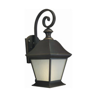 Forte Lighting 10001-01-14 Signature 1 Light 9 inch Royal Bronze Outdoor Lantern