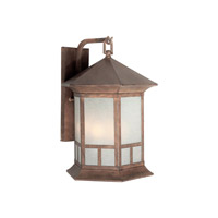 Forte Lighting 1038-04-41 Signature 4 Light 18 inch Rustic Sienna Outdoor Wall Lantern