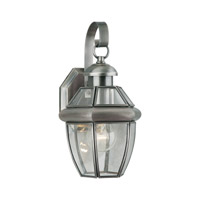 Forte Lighting 1101-01-34 Signature 1 Light 12 inch Antique Pewter Outdoor Wall Light