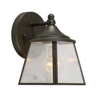 Forte Lighting 1121-01-14 Signature 1 Light 8 inch Royal Bronze Outdoor Wall Lantern