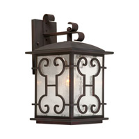 Forte Lighting 1136-01-32 Signature 1 Light 16 inch Antique Bronze Outdoor Wall Lantern