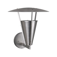 Forte Lighting 1160-01-55 Signature 1 Light 15 inch Brushed Nickel Outdoor Wall Light